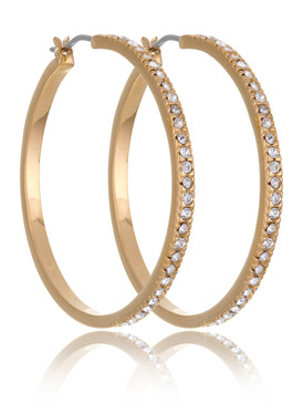 Lauren's Crystal Pave Hoop Earrings  | Earrings