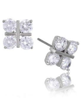 Four-Dots Square CZ Earrings  | Earrings
