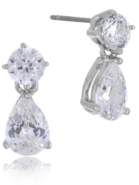 Carolee's Teardrop CZ Earrings  | Earrings