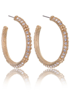 Katherine's Crystal Pave Hoop Earrings 20007