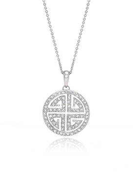 Chinese Symbol Circle Crystal Pendant  | Pendants