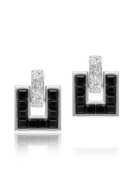 Crystal Square Earrings  | Earrings