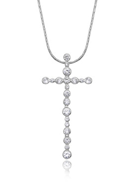 Crystal Cross Pendant Necklace  | Pendants