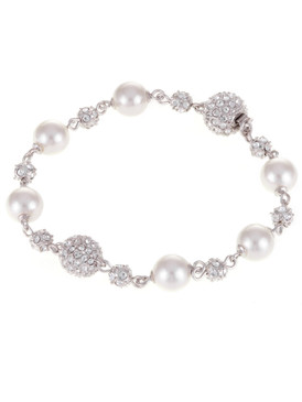 Hannah's Crystal and Pearl Ball Bracelet  | Bracelets