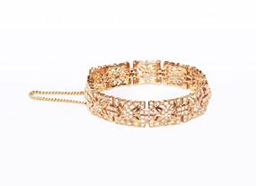 Rachel's Crystal Flower Bracelet    Bracelets