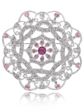 Jacqueline's Crystal Rosette Brooch 81931