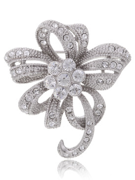 Racquel's Crystal Flower Brooch  | Brooches