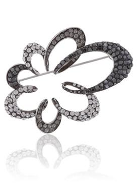 Odette's Crystal Floral Brooch  | Brooches