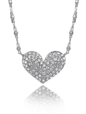 Harmony's Pave Heart Crystal Necklace  | Necklaces