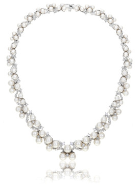 Betsey's Floral Crystal & Pearl Necklace 4 | Necklaces