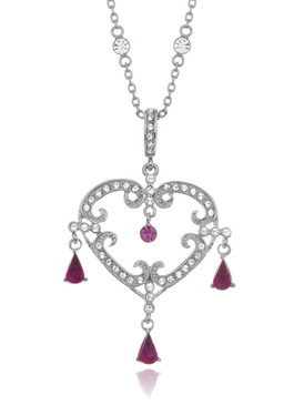 Sweet Heart Drop Crystal Necklace 4 | Necklaces