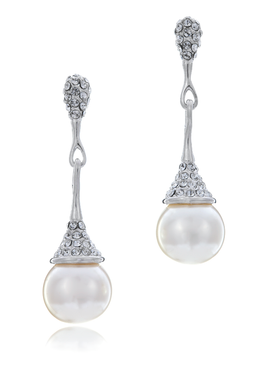 Cathy's Crystal Pearl Earrings  | Earrings