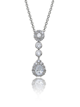 CZ Teardrop Pendant, Wholesale Cubic Zirconia Special Occasion Jewelry & Prom Accessories | Shop JGI Jewelry