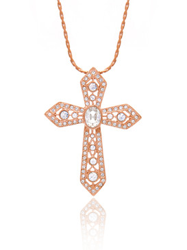 Crystal Cross Pendant, Gold-Plated Special Occasion Accessories & Wholesale Fine Fashion Jewelry | Shop JGI Jewelry