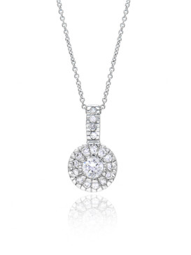 CZ Bridal Pendant, Silver-tone Cubic Zirconia Wedding Accessories & Wholesale Prom Jewelry  | Shop JGI Jewelry