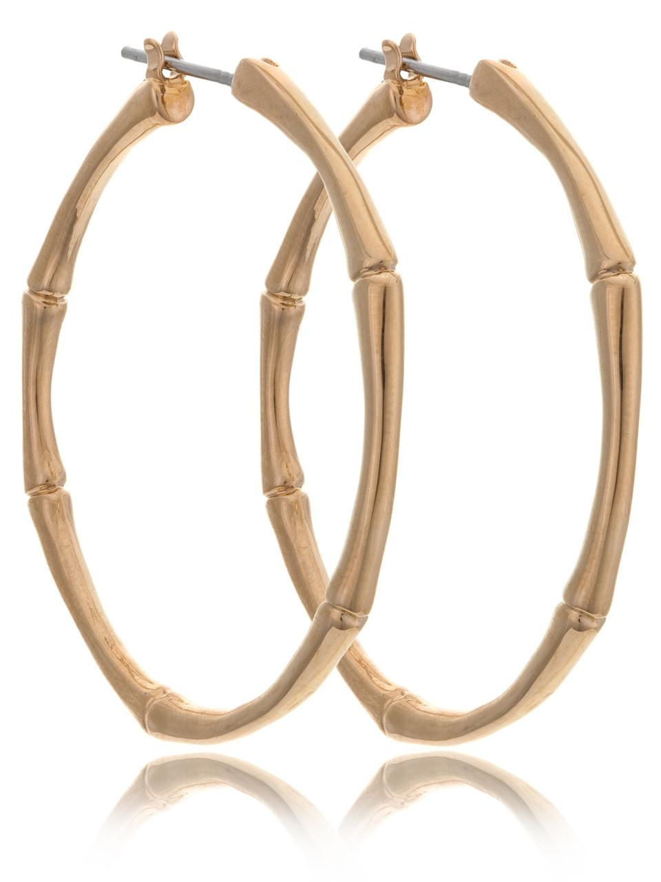 83622f158 Bamboo Hoop Earrings, Gold-Plated Fashion Jewelry & Wholesale Fine Fashion  Accessories | Shop JGI Jewelry