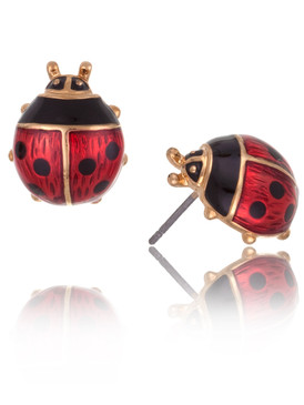 Ladybug Earrings, Gold Plated Accessories  & Wholesale Fashion Jewelry  | Shop JGI Jewelry