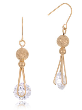 Cubic Zirconia Drop Earrings, Gold-Plated Fashion Jewelry & Wholesale Bridal Accessories  | Shop JGI Jewelry