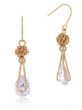CZ Raindrop Earrings, Gold-Plated Wedding Jewelry & Wholesale Bridal Accessories  | Shop JGI Jewelry