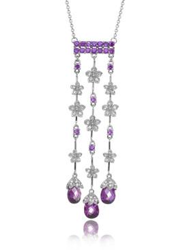 Purple CZ Bridal Jewelry, Crystal Drops Necklaces & Wholesale Wedding Accessories  | Shop JGI Jewelry