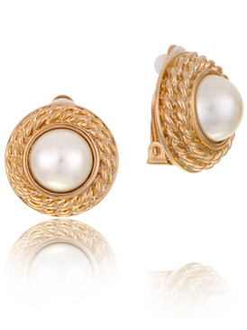 Gold Plated Braided Style Bridal Earrings & Clip-On Pearl Wedding Earrings | Shop Wholesale, with JGI Jewelry