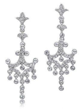 Estate Crystal Drop Earring,  20849