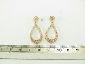 Tear Drop Rhodium Crystals Earring | JGI Jewelry