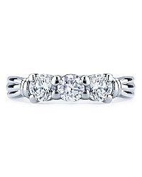 Three CZ Rhodium Ring | JGI Jewelry