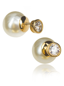 Latest Trend Pearl Earring With Cubic Zirconia   JGI Jewelry
