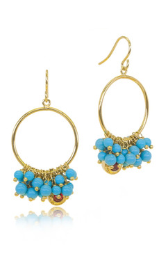 Turquise Color Beads Earring 21278