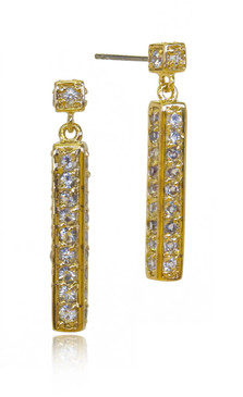 Pave Column Drop Earring 42311