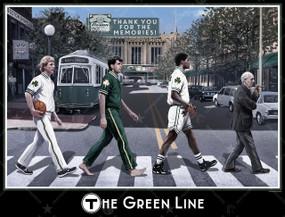 GREEN LINE WALL PRINT