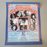 "20th Anniv. 1992 Ann Arbor Blues & Jazz Festival Poster Gary Grimshaw 17"" x 21"""