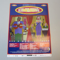 30th Anniv. 2002 Ann Arbor Blues & Jazz Festival Poster Chris Roberts Antieau
