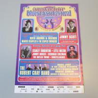 "Original 2000 Ann Arbor Blues & Jazz Festival Poster Gary Grimshaw 16-1/2"" x 24"""