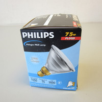 New Philips 144865 75PAR38/HAL/FL25 120V Halogen Flood Lamp Medium Base NIB