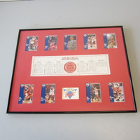 NBA Chicago Bulls 1990/1991 Championship Dream Team 9 Fleer Cards Jordan Pippen Framed