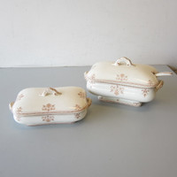 5 Pc Antique Doulton's VERSAILLES Aesthetic Covered Vegetable Soup Tureen +Ladle