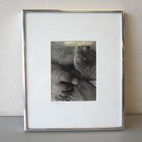 "Pencil Signed Rick Preston 1973 Photo ""Feet"" in Sand Beach 4-1/2"" x 6"" Framed"