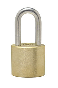 "2"" Hardened Stainless Steel Shackle - Solid Brass Padlock - Made in USA"