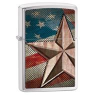 Retro Star Flag Zippo