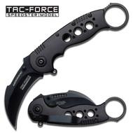 BK Karambit Finger Ring AO Pocket Knife