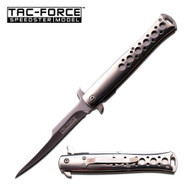 Tac Force Silver Mirror Stiletto AO Pocket Knife