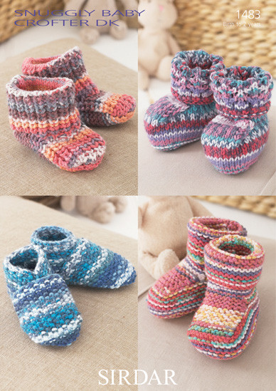 57481cd9f257 Babies   Childs Bootees   Slippers DK Patterns