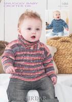 Babies / Boys Sweaters DK Patterns | Sirdar Snuggly Baby Crofter DK 1484 - Main Image