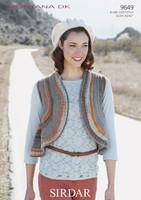 Circular Waistcoat DK Knitting Patterns | Sirdar Montana DK 9649