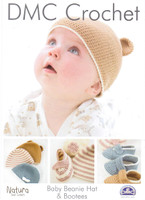 Baby Beanie and Booties Crochet Pattern | DMC Natura Cotton