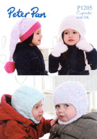 Balaclavas, Earflap Hat & Mitts DK Pattern | Peter Pan Cupcake / DK 1205