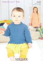 Babies / Childs Sweaters DK Pattern | Sirdar Snuggly DK 4494