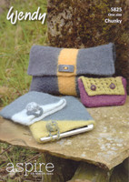 Clutch Bag, Purse and Tablet Cover Chunky Patterns | Wendy Aspire Chunky 5825